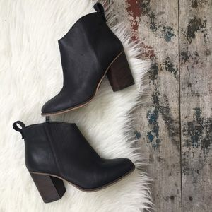 BP. BLACK leather booties sz 6 women's NEW